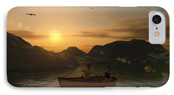 Romance On The Lake IPhone Case
