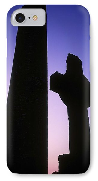Round Tower And High Cross IPhone Case