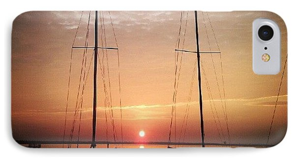 Sailboats In The Sunset IPhone Case