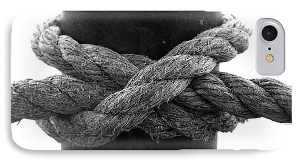 Saugerties Lighthouse Rope Knot Photograph IPhone Case