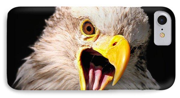 Screaming Eagle II Black IPhone Case
