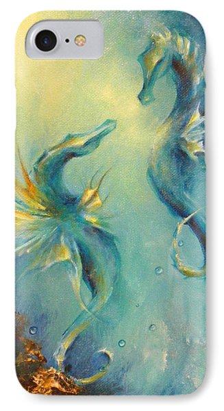 Seahorses In Love 4 IPhone Case