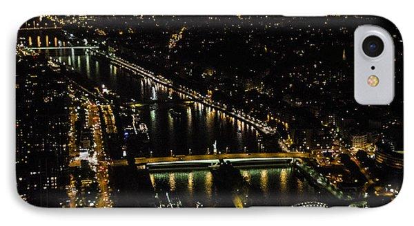 Seine River Atop The Eiffel Tower IPhone Case