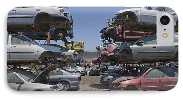 Shot Of Junkyard Cars IPhone Case