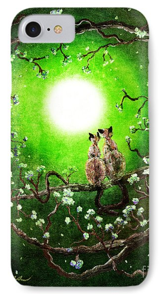 Siamese Cats In Spring Moonlight IPhone Case