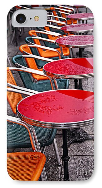 Sidewalk Cafe In Paris IPhone Case