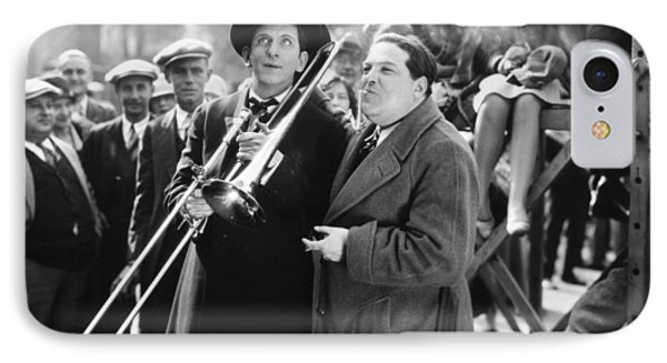 Trombone iPhone 8 Case - Silent Still: Musicians by Granger