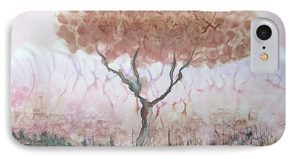 Silk Tree In Brown And Purple  IPhone Case