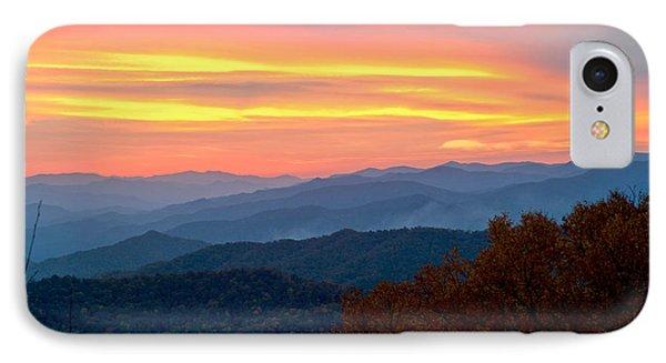 Smoky Mountains Burning Sunset IPhone Case