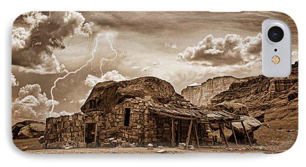 Southwest Indian Rock House And Lightning Striking IPhone Case