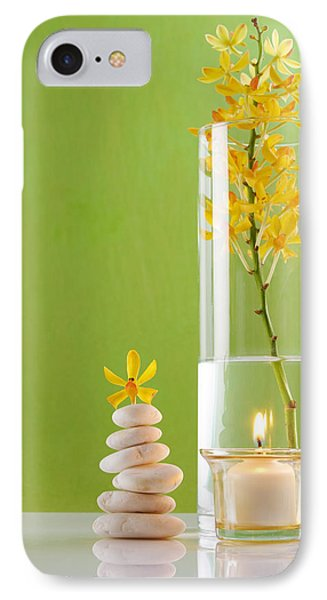 Spa Concepts With Green Background IPhone Case