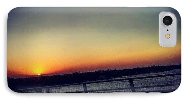 #sunset #rainbow #cool #bridge #driving IPhone Case