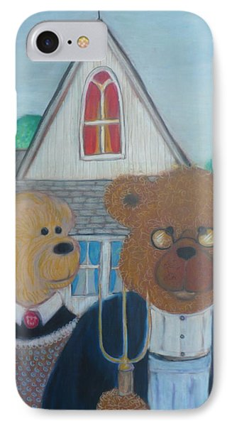 Teddy Bear Gothic IPhone Case