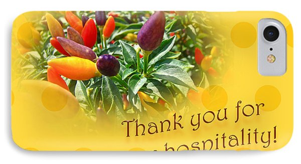 iPhone 8 Case - Thank You For Your Hospitality Greeting Card - Decorative Pepper Plant by Mother Nature