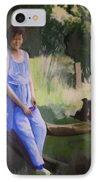 The Artist's Wife With Jasper IPhone Case
