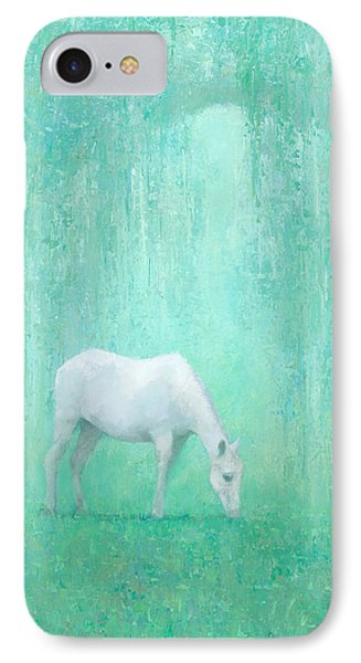 Horse iPhone 8 Case - The Green Glade by Steve Mitchell