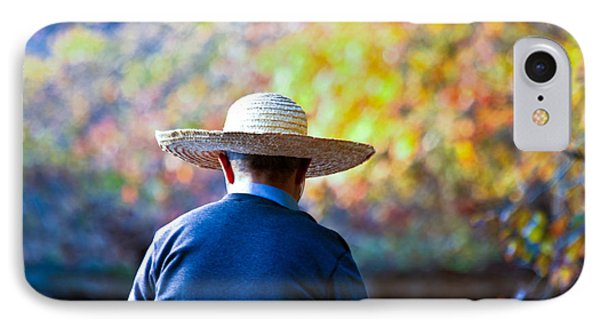 The Man In The Straw Hat IPhone Case