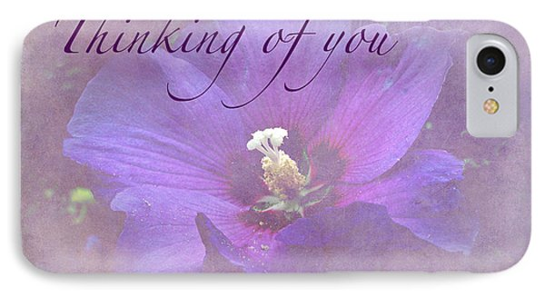 iPhone 8 Case - Thinking Of You Greeting Card - Rose Of Sharon by Mother Nature