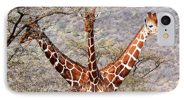 Three Headed Giraffe IPhone Case