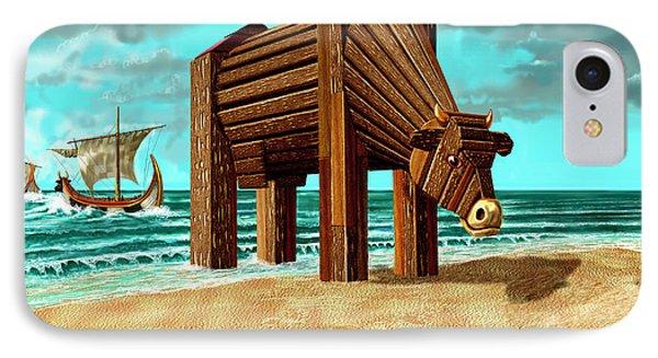 Trojan Cow IPhone Case