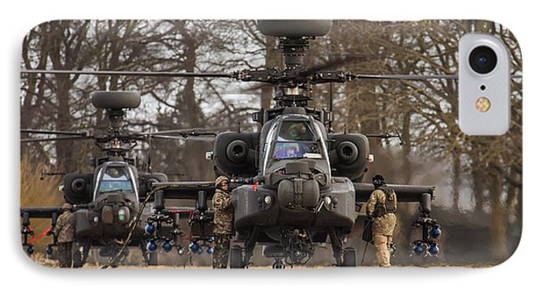 Two Ah64 Apaches IPhone Case
