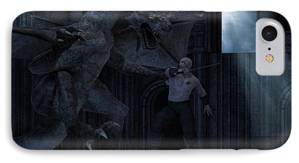 Dungeon iPhone 8 Case - Under The Moonlight by Lourry Legarde