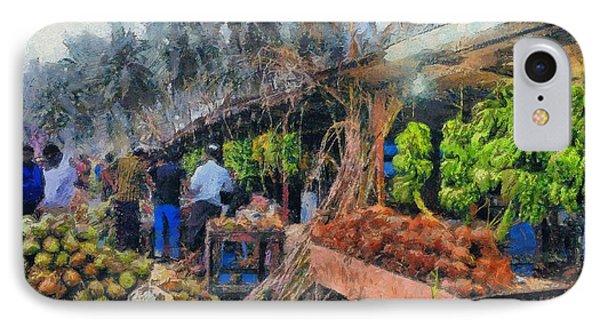Vegetable Sellers IPhone Case
