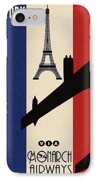 Vintage Air Travel Paris IPhone Case