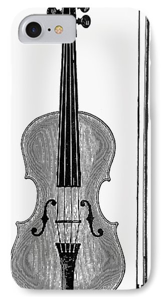 Violin iPhone 8 Case - Violin And Bow by Granger
