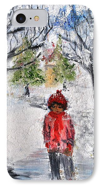 Walking Alone IPhone Case