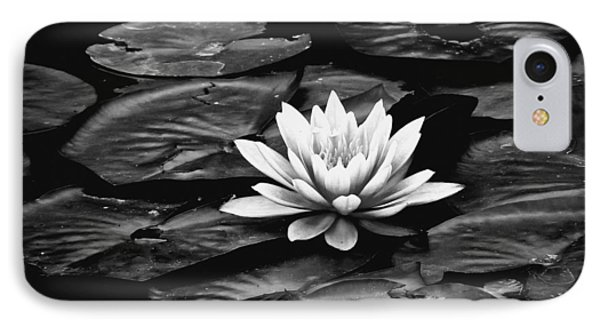 Water Lilly Bw IPhone Case