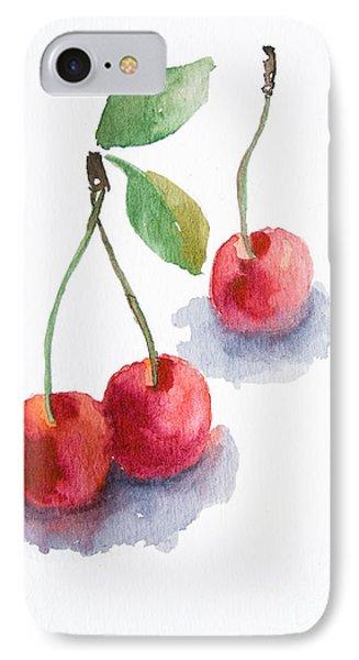 Watercolor Cherry  IPhone Case