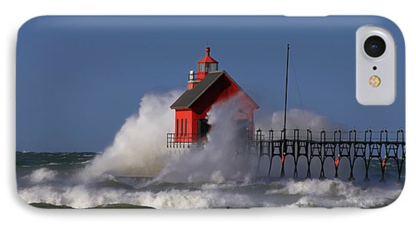 Waves Over The Grand Haven Outer Light IPhone Case