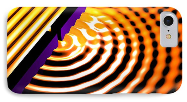 Waves Two Slit 2 IPhone Case