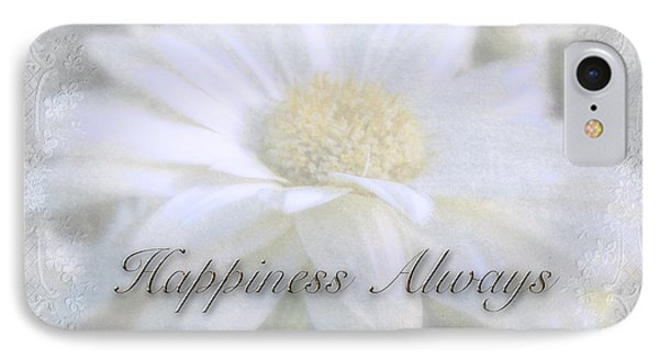 iPhone 8 Case - Wedding Happiness Greeting Card - White Gerbera Daisy by Mother Nature