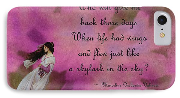 When Life Had Wings IPhone Case