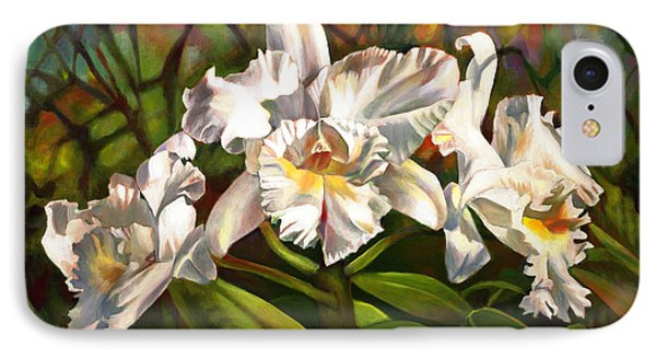 White Orchid Trio IPhone Case