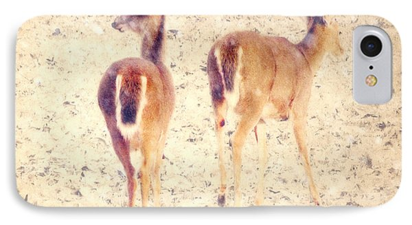 White Tails In The Snow IPhone Case