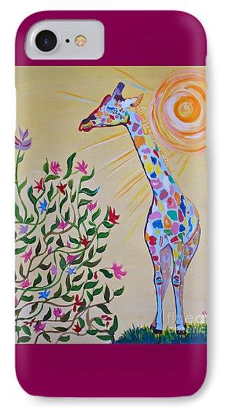 Wild And Crazy Giraffe IPhone Case