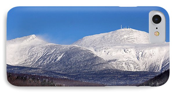 Windy Day At Mt Washington IPhone Case