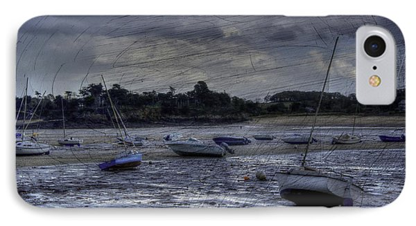 Boats On The Beach In November IPhone Case