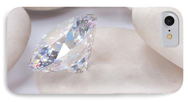 Diamond On White Stone IPhone Case