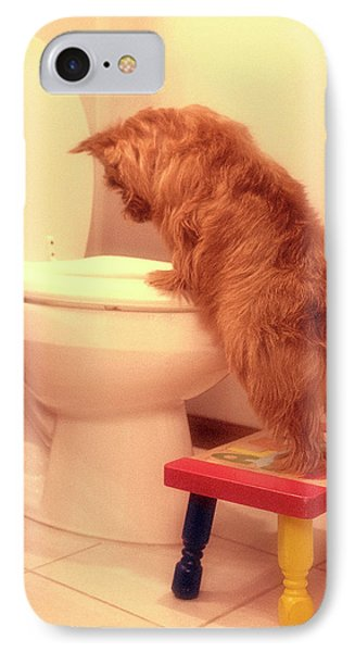 Doggy Potty Training Time  IPhone Case