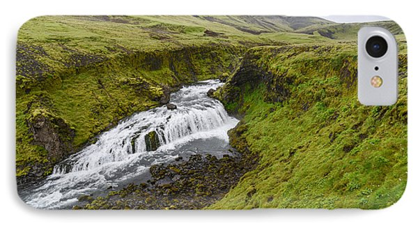 Fimmvorduhals Waterfall IPhone Case