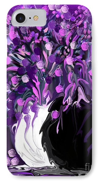 Flower Art Love Purple Flowers  Love Pink Flowers IPhone Case
