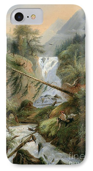 Shepherd Resting By The Waterfall IPhone Case