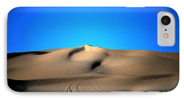 Yuma Dunes Number One Bright Blue And Tan IPhone Case