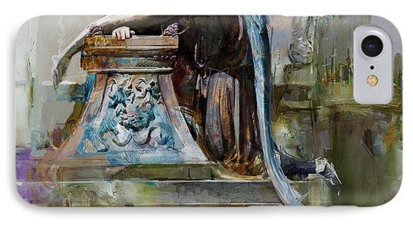 069 Angel Of Grief Glenwood Cemetery-washington Avenue Road Houston Texas IPhone Case