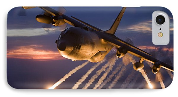 A C-130 Hercules Releases Flares IPhone Case