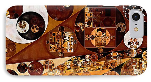Abstract Painting - Light Brown IPhone Case